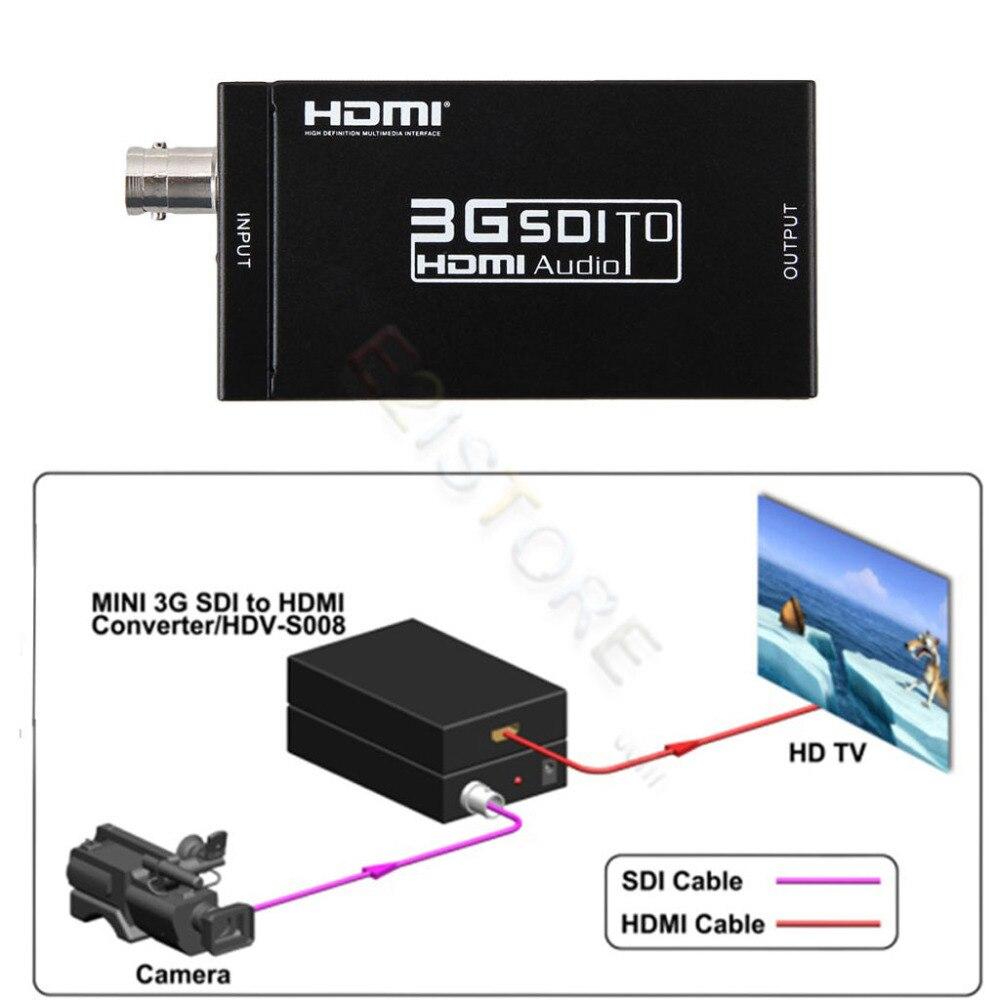 Mini Größe 1080 P 3G BNC SDI zu HDMI Konverter Adapter Unterstützung SD/HD-SDI/3g-sdi-signale Zeigt Multimedia