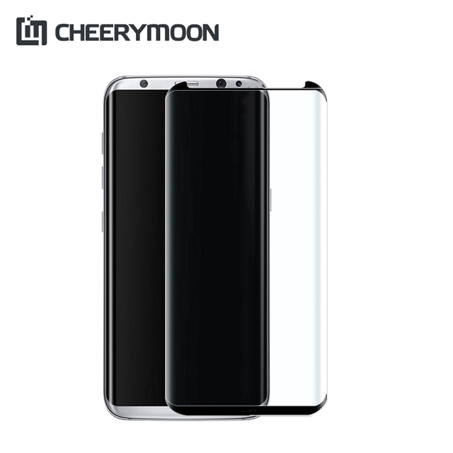 CHEERYMOON 3D Full Glue For Samsung Galaxy S8/S8 Plus Oleophobic Coating  Full Cover Screen Protector S8 S8Plus Tempered Glass-in Phone Screen