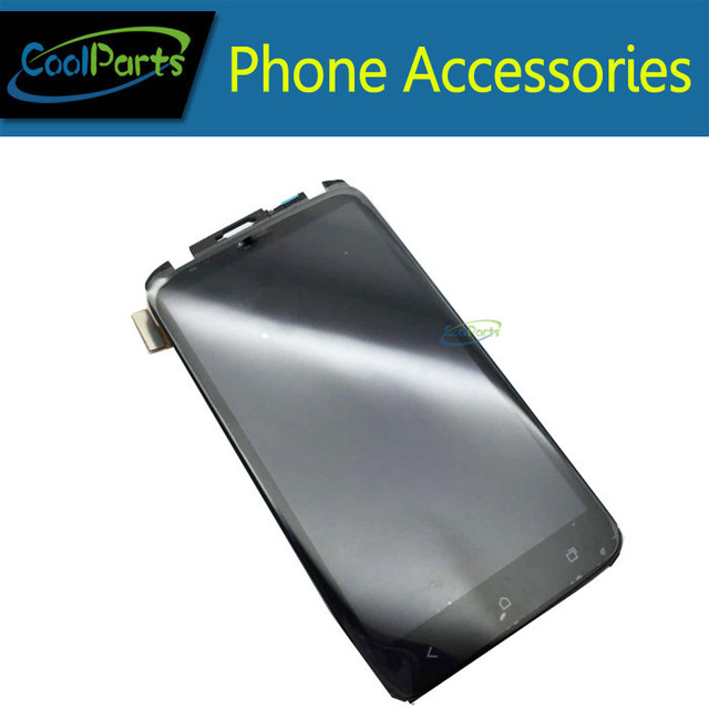1 Unids/lote LCD Pantalla y Pantalla Táctil Digitalizador Con Marco Para HTC Uno X G23 S720e Negro Color de Envío Gratis