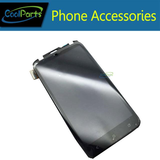 1 pçs/lote LCD e tela de toque digitador com quadro para HTC One X G23 S720e preto frete grátis