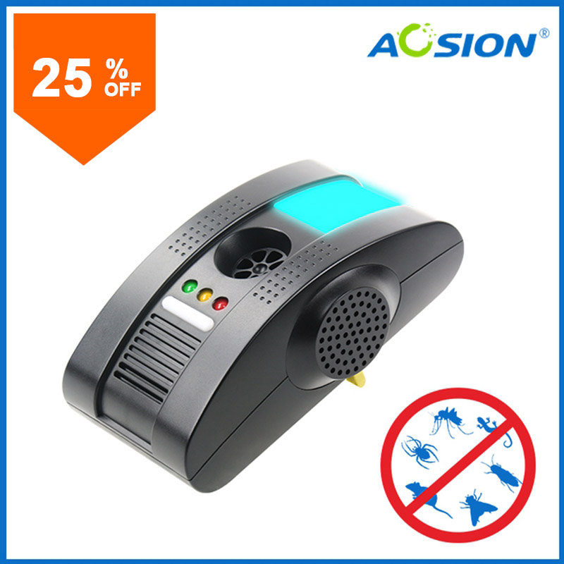 Aosion Plug-in Electronic Total Pest Eliminator + Night Light - Eradicates Insects and Rodents