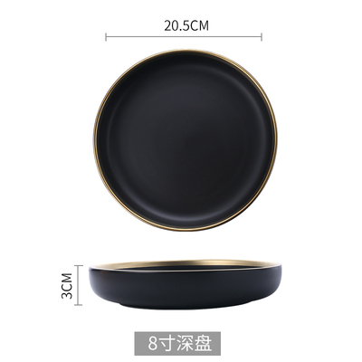 Black deep plate