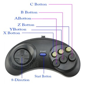 Image 3 - 6 przycisk przewodowy Pad gamepad dla Mega Drive Megadrive Sega MD (rodzaju