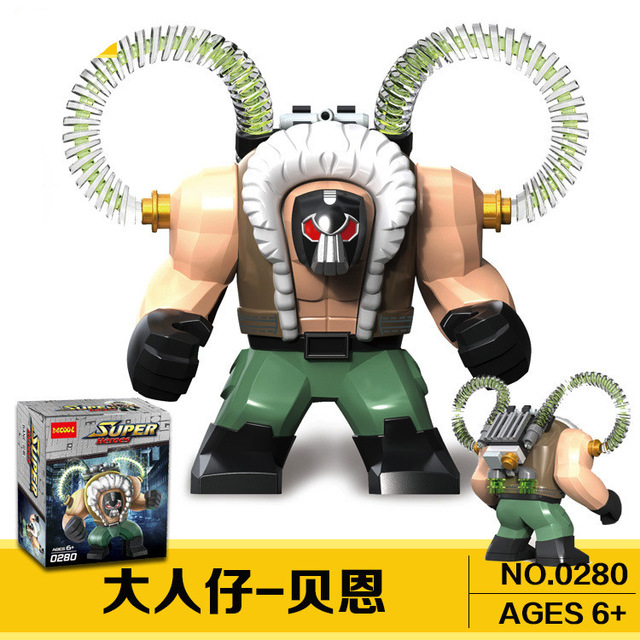 40pc 0280 Marvel Super Heroes Batman iron Man Hulk Bane Thanos Building Blocks lingly Bricks Toys