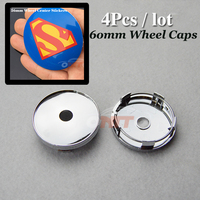 Wheel Center Cap Modified Custom 60mm 2 36inch For Superman Logo Car Wheel Hub Caps