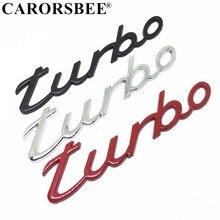 4f1e09d62 3D كروم توربو شعار شارة سيارة ملصقا الفضة الأحمر الأسود Macan الخلفي ملصق اكسسوارات  السيارات لبورشه