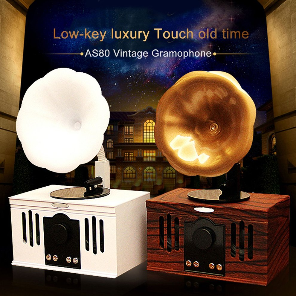ONLENY Wood Vintage Wireless Bluetooth Speaker Classic Handsfree AUX Input TF Card Music Player Fashionable Tabletop Speaker