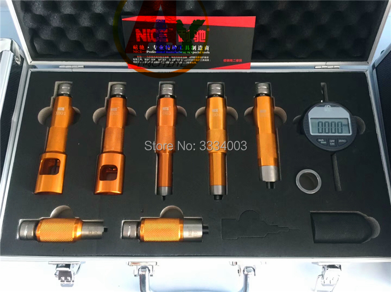 цена на 2018 common rail injector nozzle valve measuring tool for Bosch and Denso injector nozzles, common rail injector repairing tools