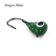 Ningyo Hime 5 PSC/Lot New High Quality 2.1g Exposed Mini head Hook Jigs Bait Fishing Hooks Artificial Bait Fishing Tackle