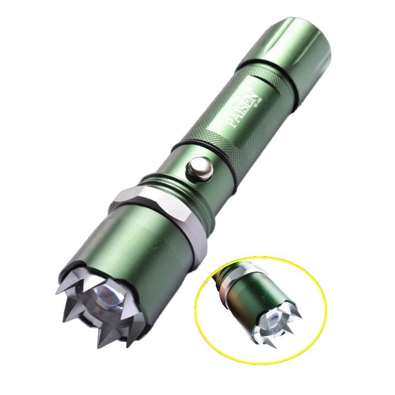 imágenes para CCGK autodefensa multifuncional anti-violación legítima defensa linterna táctica recargable al aire libre equipo de la patrulla de seguridad