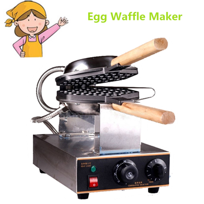 Germany Stock Commercial Electric Chinese Eggettes Waffle Maker Puff Iron Hong Kong Bubble Eggs Machine Cake Oven