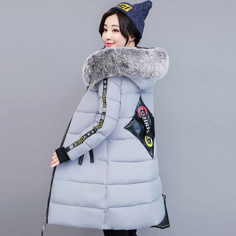 2017 winter women hooded coat fur collar thicken warm long jacket female plus size outerwear parka ladies chaqueta femin QH0521 maxi coats thicken winter jacket women 2017 fur collar over knee long winter jacket parka warm cotton coat chaqueta mujer c2601
