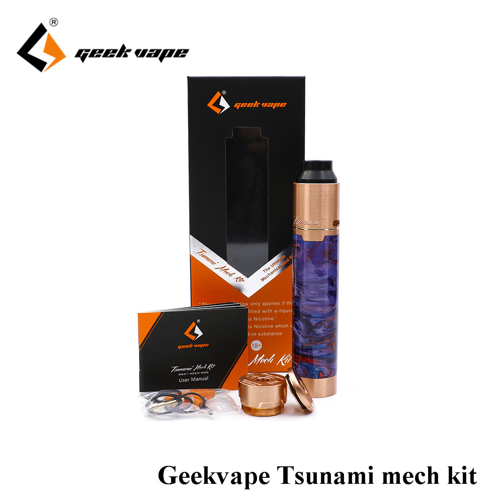 newest GeekVape tsunami mech kit with Black Ring Plus Mech Mod and Tsunami Pro RDA Kit velocity style deck tsunami mech kit
