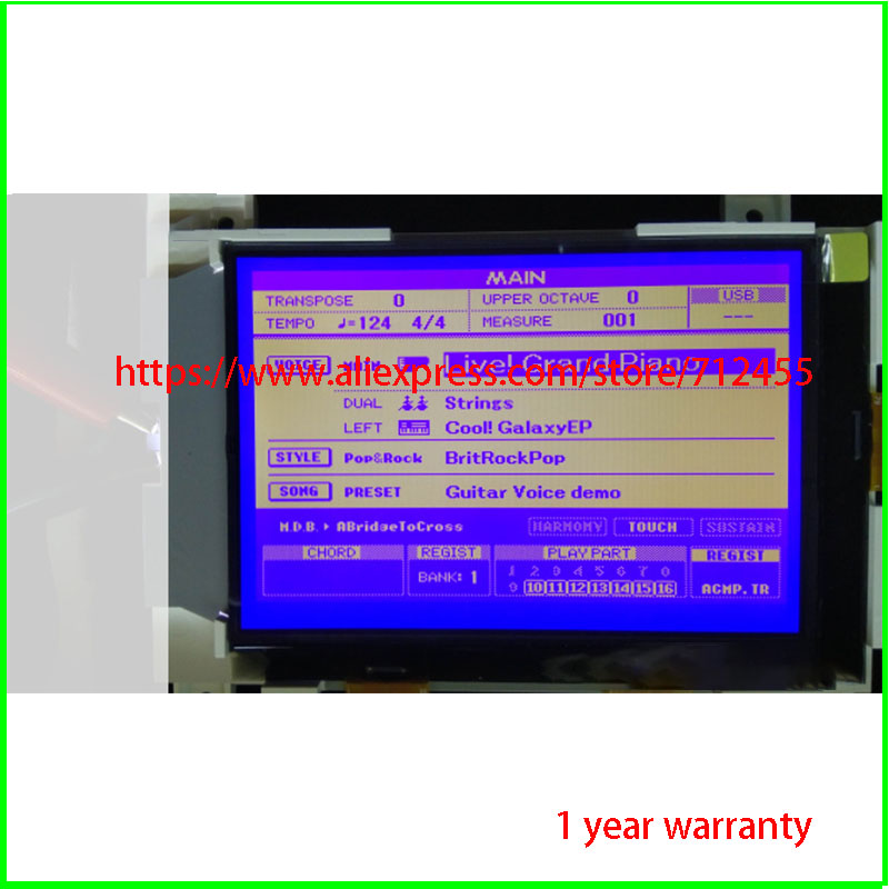 New original LCD Display Screen for YAMAHA PSR S550 PSR S500 PSR S650 PSR S670 MM6 #H3574 YD Replacement|Tablet LCDs & Panels| |  - title=