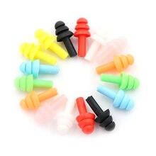 Tapones de silicona para los oídos, antiruido, ronquidos, cómodos para estudio de sueño, color aleatorio, 20 Uds.