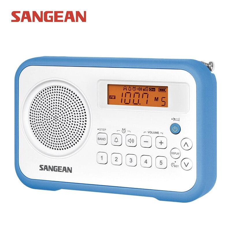 Sangean PR-D18 Free shipping radio with clock mini portable stereo radio receiver Sangean Radio 2pcs mini walkie talkie uhf interphone transceiver for kids use two way portable radio handled intercom free shipping