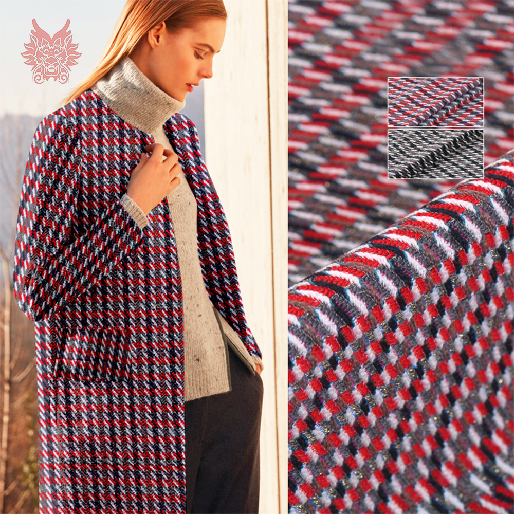 France style red black geometric metallic weaving wool fabric apparel for coat dress tissu cloth tecidos telas SP5591 FREE SHIPFrance style red black geometric metallic weaving wool fabric apparel for coat dress tissu cloth tecidos telas SP5591 FREE SHIP