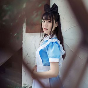 Image 4 - VEVEFHUANG Game Wonderland Party Cosplay Alice Costume Anime Sissy Maid Uniform Sweet Lolita Dress Halloween Costumes For Women