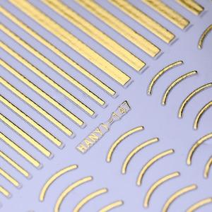 Image 5 - Vàng Bạc 3D Miếng Dán Móng Tay Lột Băng Đường Nét Thiết Kế Nhiều Kích Thước Dải Băng Keo DIY VIỀN BƯỚM Móng Nghệ Thuật đề Can Trang Trí