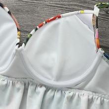 Push Up Bikini Swimsuit Floral Printed Bathing Suit Women Lace Swimwear Beachwear