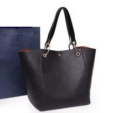 Handbag 2016 New high-end genuine leather bag vintage simple shoulder bag designer handbags high quality all match female-bag