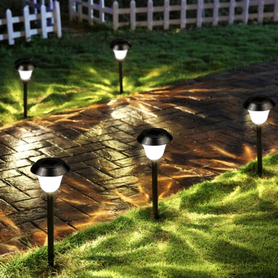 Stainless Steel 1 - LED Solar Lawn Light Pathway Garden Lamp 8PCS ...