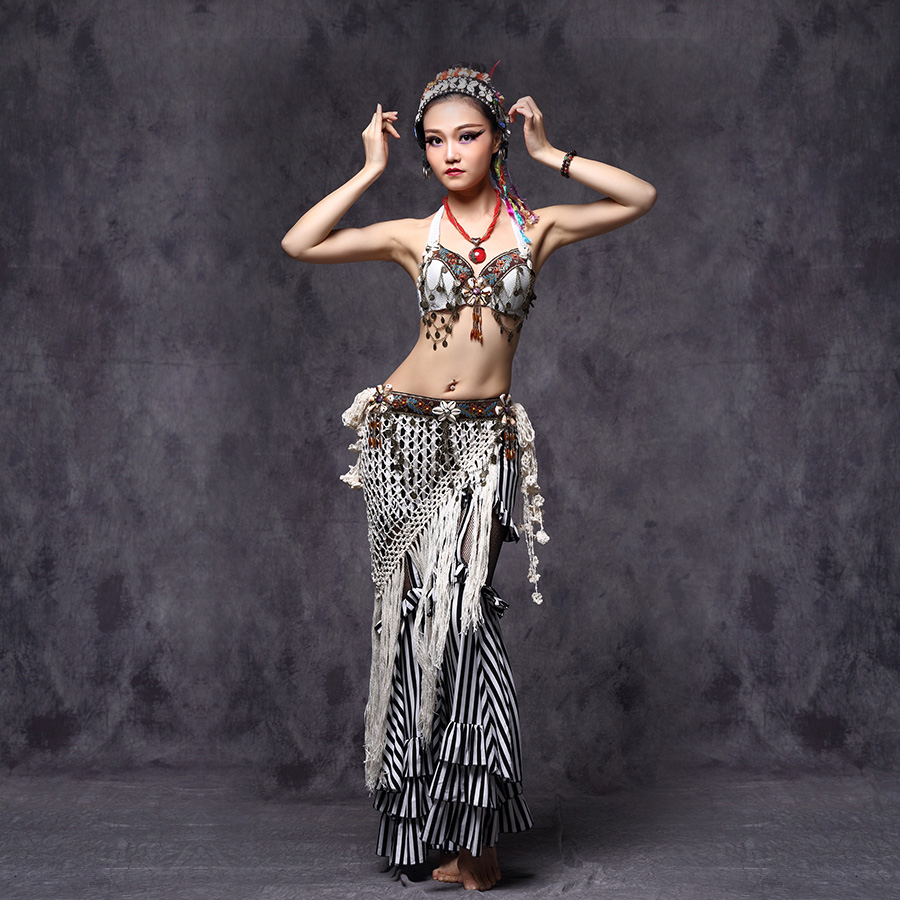 Special Price Lace Blouse Top Belly Dance Costumes Practice Dancewear 11 colors