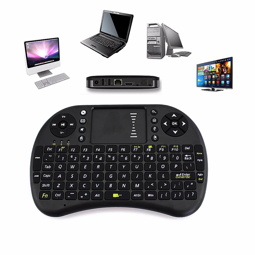 2.4G Original I8 Mini Wireless Board Keyboard Touchpad Air Mouse Mause Fly Mouse Remote Control for Android Windows TV Box Phone
