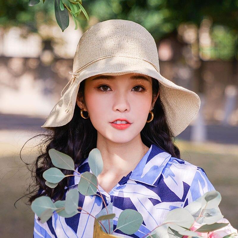 Nouvelle Arrivée d'été Parasol Chapeau Large Bord Chapeaux de Soleil Coréenne Style Casual Chapeaux