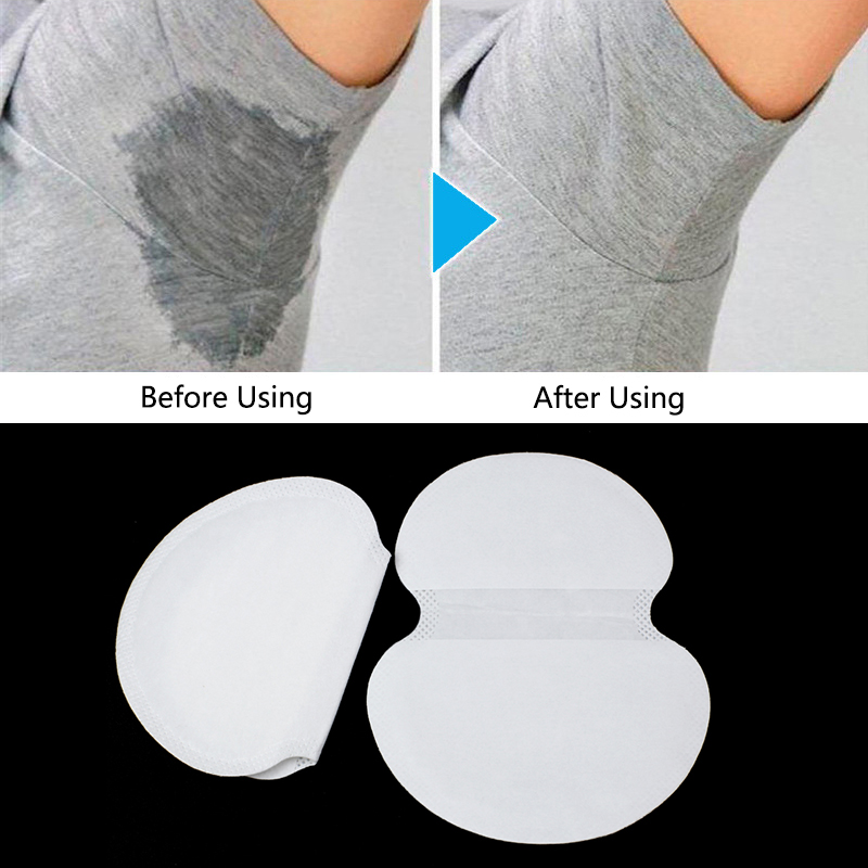 100Pcs Summer Dress Armpit Sweat Pads Underarm Scent Perspiration Pad Adhesive Shield Absorbing Deodorant Pads Stickers