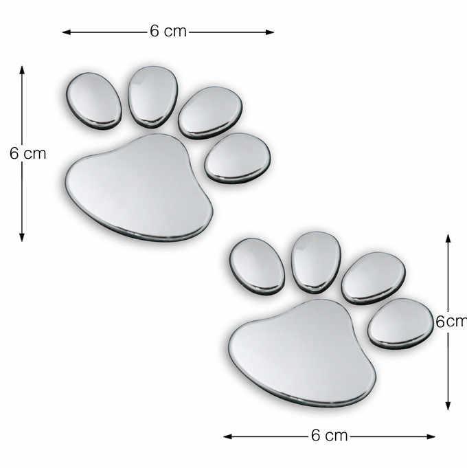 2 Stuks Pet Animal Paw Hond Auto Stickers Bear Paw Pet Animal Voetafdrukken Emblem Auto Vrachtwagen Decor 3D Sticker Auto decalY30