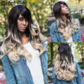 Synthetic Wigs for Women Sale Long Wavy Ombre Blonde Wig Synthetic Ombre Wig Heat Resistant Cheap African American Wigs