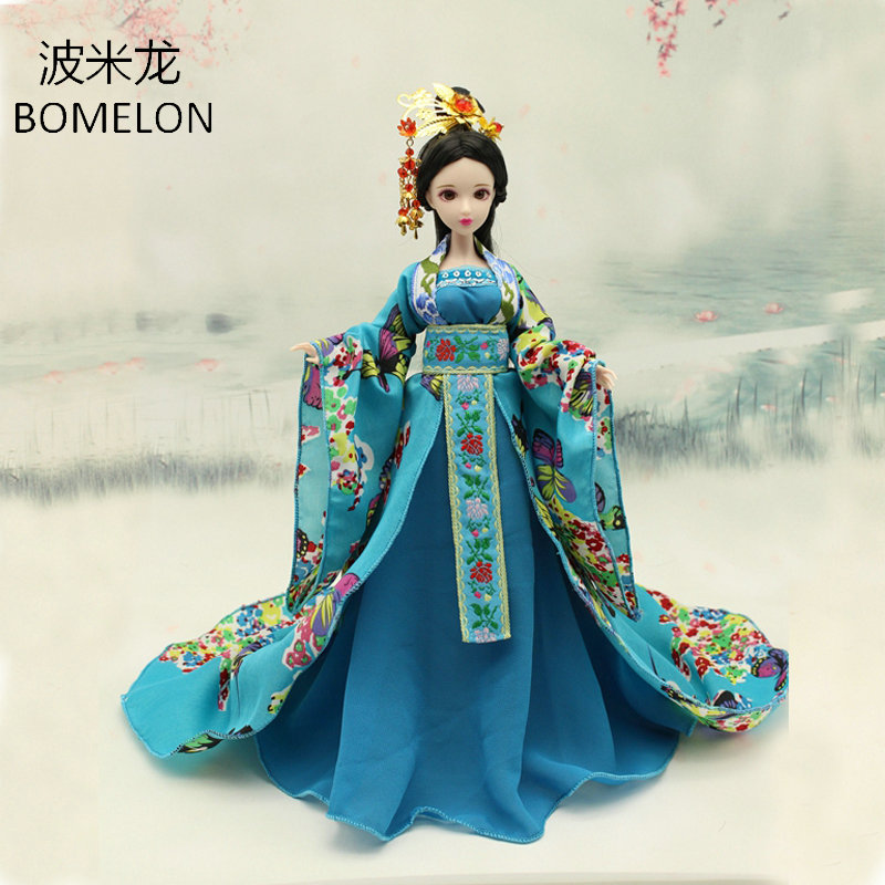 2017 New Handmade Doll Clothing Chinese Ancient Costume Chiffon Skir For OB27 Bjd 1/6 Doll Body Girl Toys Dolls Accessories