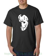 Halloween Hockeyist Masker T-shirt-Friday The 13th Jason Voorhees Horor Freddy Diskon Besar Katun Tee(China)