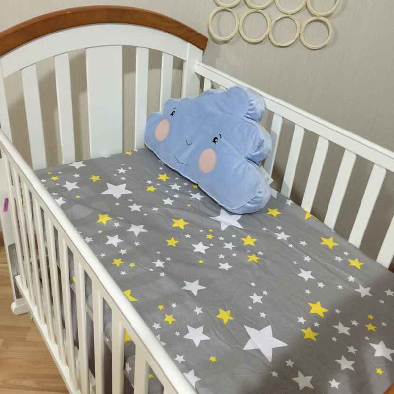 Cotton Crib Ed Sheets Soft Baby Bed
