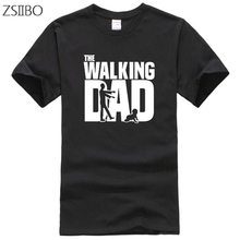 Men's t shirt Walking Dad Print T-Shirt Tops Casual Thin Section Father's Day Funny tshirt Dad Gift Tops 3XL Large Size XXXL best dad tshirt funny design father day t shirt 100% cotton fashion gift t shirt eu size