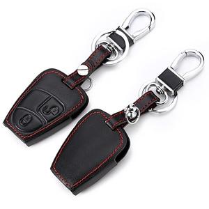 Image 5 - Echtes Leder Auto Fernbedienung Schlüssel Shell Schlüssel Fall Abdeckung für Mercedes Benz Klasse W205 E Klasse W212 EINE B S GLC GLA GLK Auto Zubehör