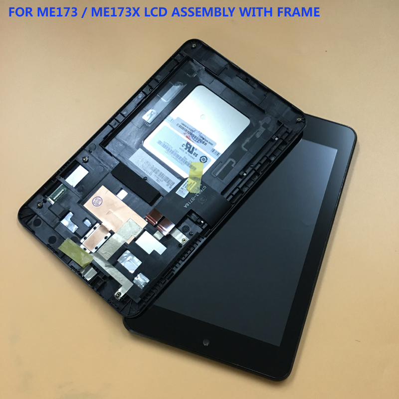 For Asus MeMO Pad HD7 ME173 ME173X K00B (LCD FOR Innolux) Black Touch Screen Digitizer Glass + LCD Display Panel Assembly Frame for asus memo pad hd 7 me173x me173 k00b fpc 076c3 0716a hmfs touch screen digitizer in stock