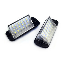 For BMW E36 3 Series 1992-1998 318i/320i/M3 2Pcs White Error Free Auto License Plate Light 18 LED 3528SMD Lamps