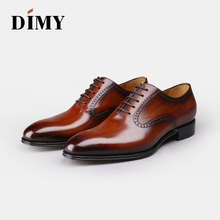 Dimy handmade custom color oxford shoes mens summer business dress Brock England wind groom