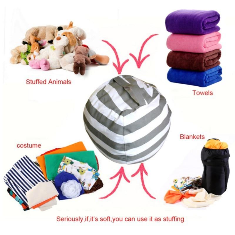 ᗜ lj Creative Modern Storage Stuffed Animal Storage Bean Bag Chair