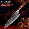 XINZUO 8 5 zoll Chef Messer Hohe Carbon VG10 Japanischen 67 schicht Damaskus Küche Messer Edelstahl Gyuto Messer Palisander Griff-in Küchenmesser aus Heim und Garten bei