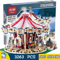 3263 шт Creator Expert карусель для парка аттракционов построить коллекция 15013 модель строительные блоки игрушки Кирпичи совместимы с Lego
