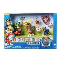 Original box Genuine Paw Patrol 6 Pack Action Pups Rescue Team Set chase marshall rocky zuma skye rubble children's toy gift