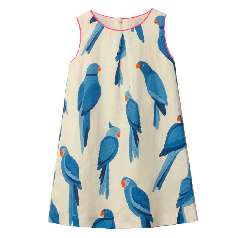 Платья для маленьких девочек; летние хлопковые детские Платья с цветочным принтом для девочек; Полосатое детское Повседневное платье; костюм принцессы