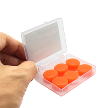 1Boxs=6pcs Waterproof Silicone Soft Water Sports Earplugs Showering Protective Ear Plugs Swimming Earplugs Anti-noise Earmuffs 200pairs authentic 3m1100 foam soft silicone corded ear plugs noise reduction norope earplugs swimming protective earmuffs