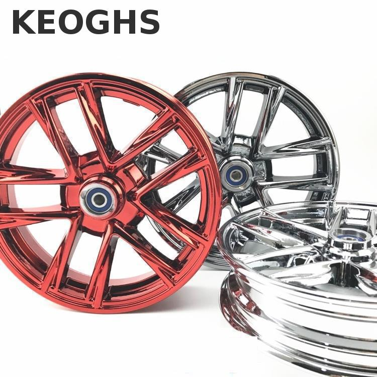Keoghs Motorcycle Front Wheel Rim Electroplated Aluminum Alloy 10 Inch For Yamaha Kawasaki Suzuki Honda Scooter Motorbike keoghs motorcycle front shock absorber clamp fender bracket for honda yamaha kawasaki suzuki scooter dirt bike refit modify