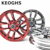 Keoghs Motorcycle Front Wheel Rim Electroplated Aluminum Alloy 10 Inch For Yamaha Kawasaki Suzuki Honda Scooter Motorbike