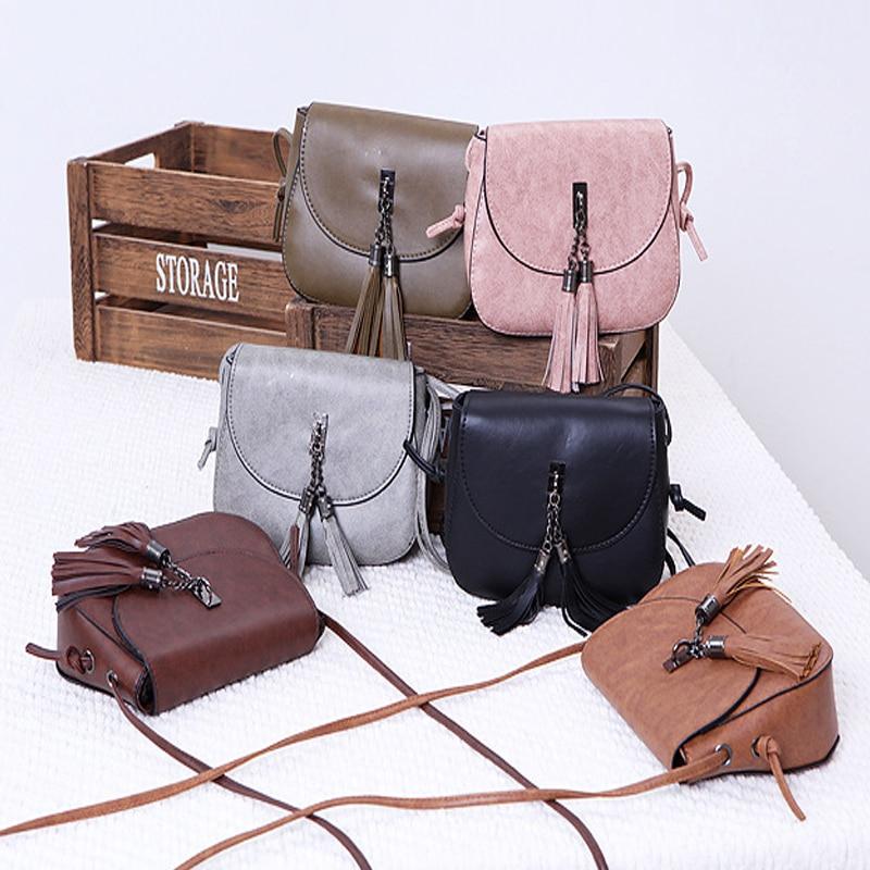 Fashion Women Shoulder Bags Simple Tassel Design bags New Clutch Bag Solid Color Ladies shoulder With