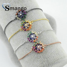 5Pieces 2019 New Arrival! The Rainbow Series, Round Shape Bracelet,4 Colors,Can Wholesale